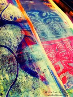 Day 11- Pattern; monoprint by Martice Smith II Patterns, patterns, patterns!!! I love all kinds of patterns, especially those that are fluid, organic shapes. So raw and natural in form; not too complex (but can be). I often look at nature for inspiration on patterns that resonate within me.    Here are a couple of patterns that I've been drawing and painting, repeatedly, in my sketchbook: