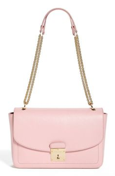 MARC JACOBS Pink Pastel Leather Shoulder Bag