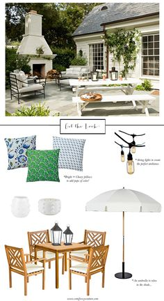 Outdoor living space/patio inspiration.