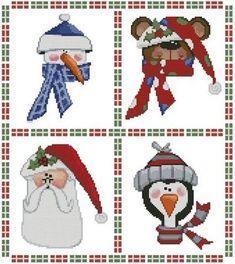 Cute Christmas Sampler cross stitch pattern.