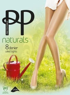 Pretty Polly The Naturals Oiled Tights Style PMAPA7 Gentle Brown SM NEW #PrettyPolly #Tights