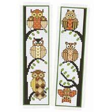 Owl Cross Stitch Kits | ... Cross-Stitch > Kits > Craftways Owl Bookmarks Counted Cross-Stitch Kit