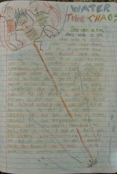 7th grader Emily used great Mr. Stick facial expressions to help tell a wild story from her summertime writer's notebook.
