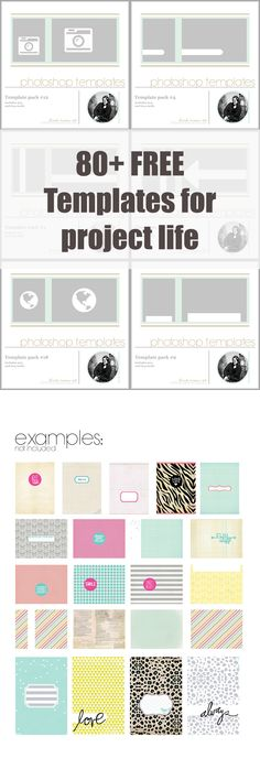 80+ Free Pocket Page/Project Life Card Templates {on Facebook}