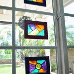 DIY painted stained glass frame