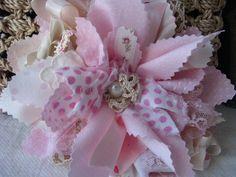 Handmade Fabric Flower   # Pin++ for Pinterest #