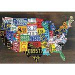 License Plate USA Map Print plate usa, usa map, plates, maps, licens state, prints, licens plate, map print