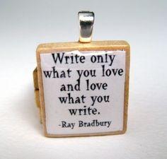 thoughts, author, peace quotes, scrabble, inspir, writers, homes, ray bradbury, ray bradburi