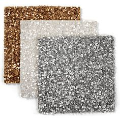 Use Sequined Placemats on your vanity as a glamorous backdrop for jewelry or perfume. $119.80, per set