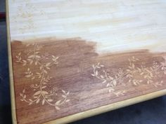 DIY Dining Table Makeover. Wood Stain Art.