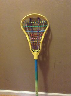 New lax stick lacing made we rainbow loom!