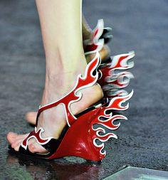 Fashion Week Shoes: Prada Spring 2012.  External combustion.