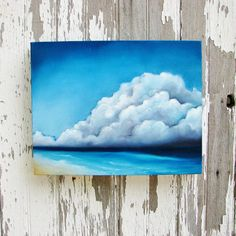 Seascape original oil painting thunderstorm by Stormscapestudio