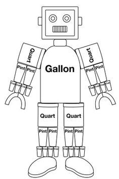 gallon man printable worksheet school is fun pinterest. Black Bedroom Furniture Sets. Home Design Ideas