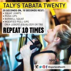 """Get a great workout in just 20 minutes - at home or at the club. Taly is the family nickname of our spectacular Corporate Director of Group Fitness, Teri Bothwell (""""Italyin girl"""" - get it?)"""