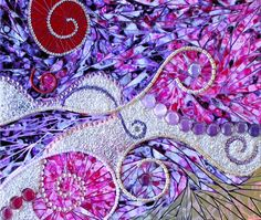 Paper and jewels mosaic final ... stunning!  take a look at the close-ups! .... http://inspired.gumnut.net/2012/09/paper-and-jewels-mosaic-completed/#