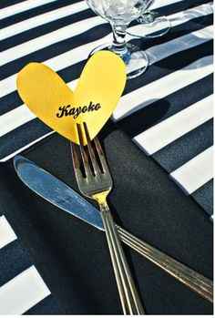 cute way to do place settings