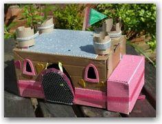 Cardboard box castle - with working drawbridge