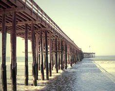 Beach Print- Beach Decor, Ventura Pier, Pier Photography, California Beach, Retro Beach Print, Beach Print  8x10