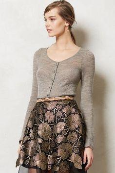 Gorgeous skirt & cardigan #anthropologie