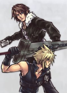 Squall & Cloud should team up! Yes:)