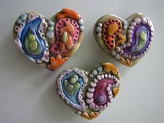Heart shaped paisley magnet set by walkercrafts on Etsy, $17.00