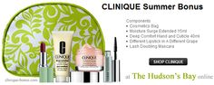 Enjoy Clinique must haves for free. 5pc Summer Clinique gift with $31 purchase. http://clinique-bonus.com/canada/