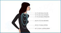 Necklace lengths from Olga of POLGANI STUDIO