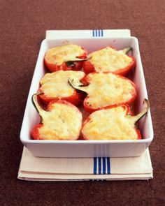 Polenta-Stuffed Peppers Recipe
