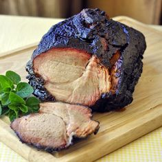Slow Barbeque Dry Rubbed pork Shoulder with Molasses BBQ Sauce - slow barbequed, succulent, spicy, smoky, sweet molasses glazed pork perfection.