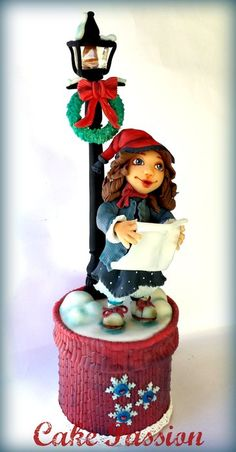 A Song of Christmas - by CakePassion @ CakesDecor.com - cake decorating website