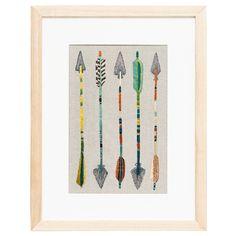 decor, arrow artwork, coral, arrows, framed art, tusk, frame art, arrow print, arrow frame