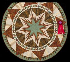 2013 Quilt Expo Quilt Contest, 2nd Place, Category 7, Wall Quilts, Machine Quilted Pieced: Christmas Celebration, Marie Brewer, Hermosa, S.D.