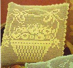 Free Filet Crochet Pillow Patterns : crochet filet on Pinterest 76 Pins