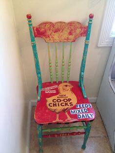 Charming Rustic Farm Chair by BirdiesNestDecor on Etsy, $95.00