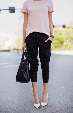 A Basic Tee 4 Ways from Flats to Heels