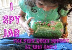 kid books, kid activities, preschool activ, spi jar, spies, quiet cricket, picture books, book activities, jars