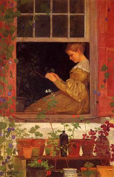 1873 Winslow Homer (American, 1836-1910) ~ Morning Glories