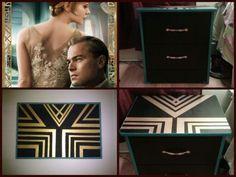 Great Gatsby inspired diy art. 1920's art deco <3
