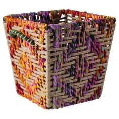 Threshold Decorative Woven Storage Basket from Target. Love the colors!