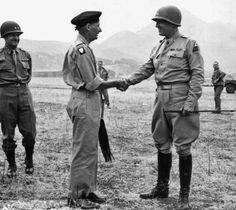 Montgomery and Patton - fierce rivals in Europe.