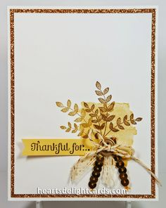 Heart's Delight Cards: CAS, For All Things, Stampin' Up!, Autumn, Fall, Thanks, Thanksgiving