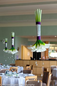 suspended flowers? awesome.