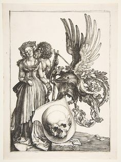Albrecht Dürer (German, Nuremberg 1471–1528 Nuremberg). Coat of Arms with a Skull, 1503. The Metropolitan Museum of Art, New York. Fletcher Fund, 1919 (19.73.113)
