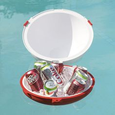 This mack daddy of all floating coolers has powerful insulation & fits up to twelve cans of your favorite brew.