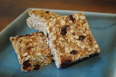 Low Fat Granola Bars with Bananas, Cranberries & Pecans | Recipe