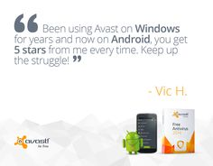 #AVAST #security solution for #Android and #Windows. Available for #free