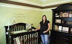 green and brown walls