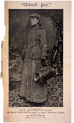 "Historic Newspapers~  The World dated 02/02/1890 -- New York World correspondent Nellie Bly circled the globe in record time: 72 days, 6 hours and 11 minutes. The trip, sponsored and arranged by the young female reporter's newspaper, retraced the journey of fictional character Phileas Fogg in Jules Verne's book ""Around the World in Eighty Days."" On exhibit in the News Corporation News History Gallery at the Newseum.  Newseum collection  Photo credit: Newseum collection"