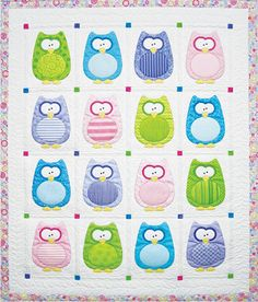 Baby Quilt, Pattern, The Hoots, Amy Bradley Designs. $10.50, via Etsy.